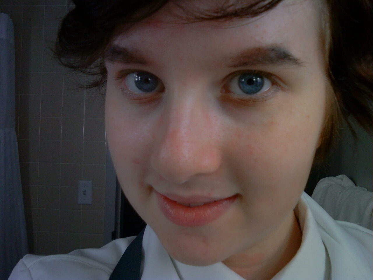 Closeup of the makeup/eyebrows because I'm particularly fond of it  Another text from Forkie :V
