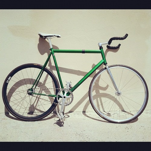 Front wheel finally came in.  #fixedgear #bicycle #citygrounds (Taken with Instagram)