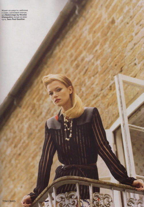 Kasia Struss by Tom Craig | Vogue Russia October 2011 |  4/12 st: Ekaterina Mukhina hair: James Rowe make-up: Florrie White