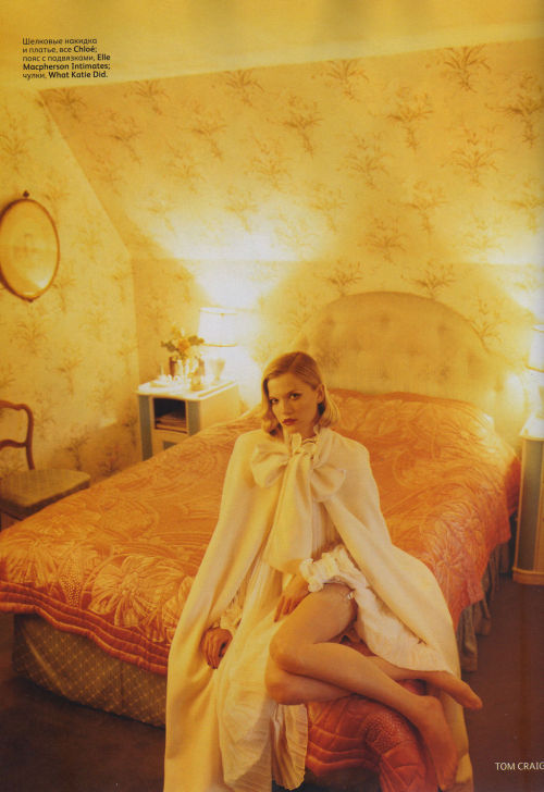 Kasia Struss by Tom Craig | Vogue Russia October 2011 |  5/12 st: Ekaterina Mukhina hair: James Rowe make-up: Florrie White