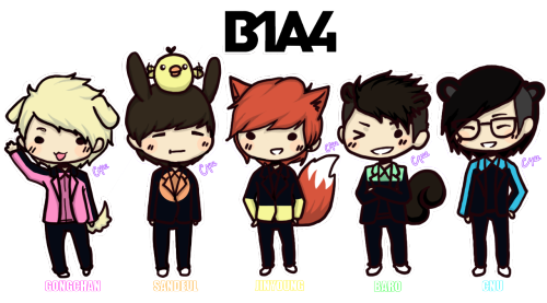 jinfox:  A B1A4 fanart drawn by me C: