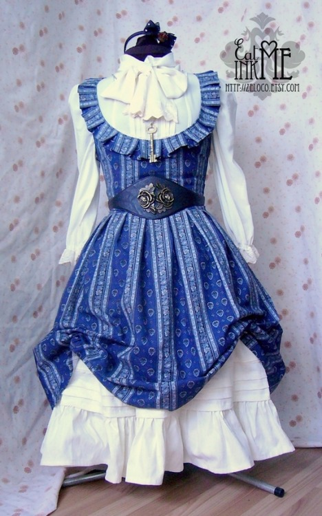eatmeinkme:  Navy stripe jsk finally in the store! steampunk coord :)  And THIS is just so lovely. *_*