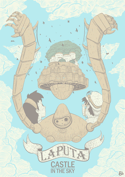 heyoscarwilde:  the films of Studio Ghibli illustrated by Jack Bloom :: via andbloom