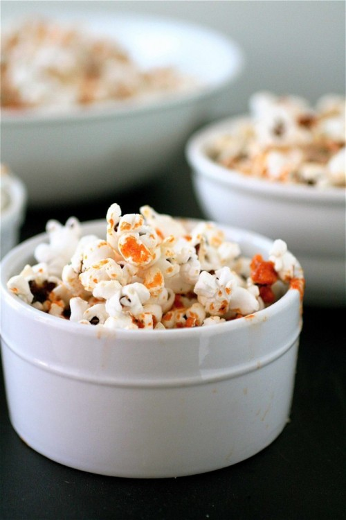 Sriracha Ranch Popcorn  Recipe here