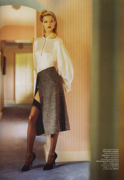 Kasia Struss by Tom Craig | Vogue Russia October 2011 |  6/12 st: Ekaterina Mukhina hair: James Rowe make-up: Florrie White