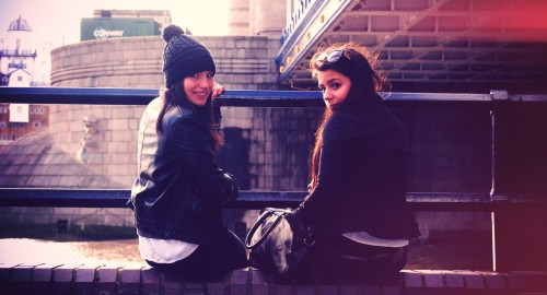 yyyou-only-live-once:  Me and Lau :) How I miss London!!
