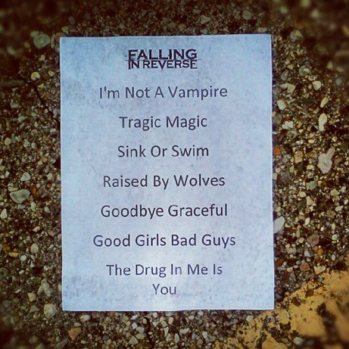 @FIRofficial setlist from Detroit #warpedtour  (Taken with Instagram)