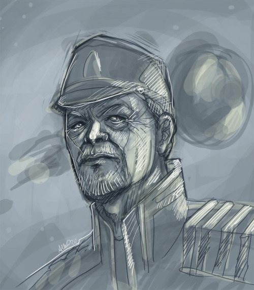 Rough sketch wip of a Hackett protrait.  The Extended Cut soundtrack reminded me that I'd started this the other night.