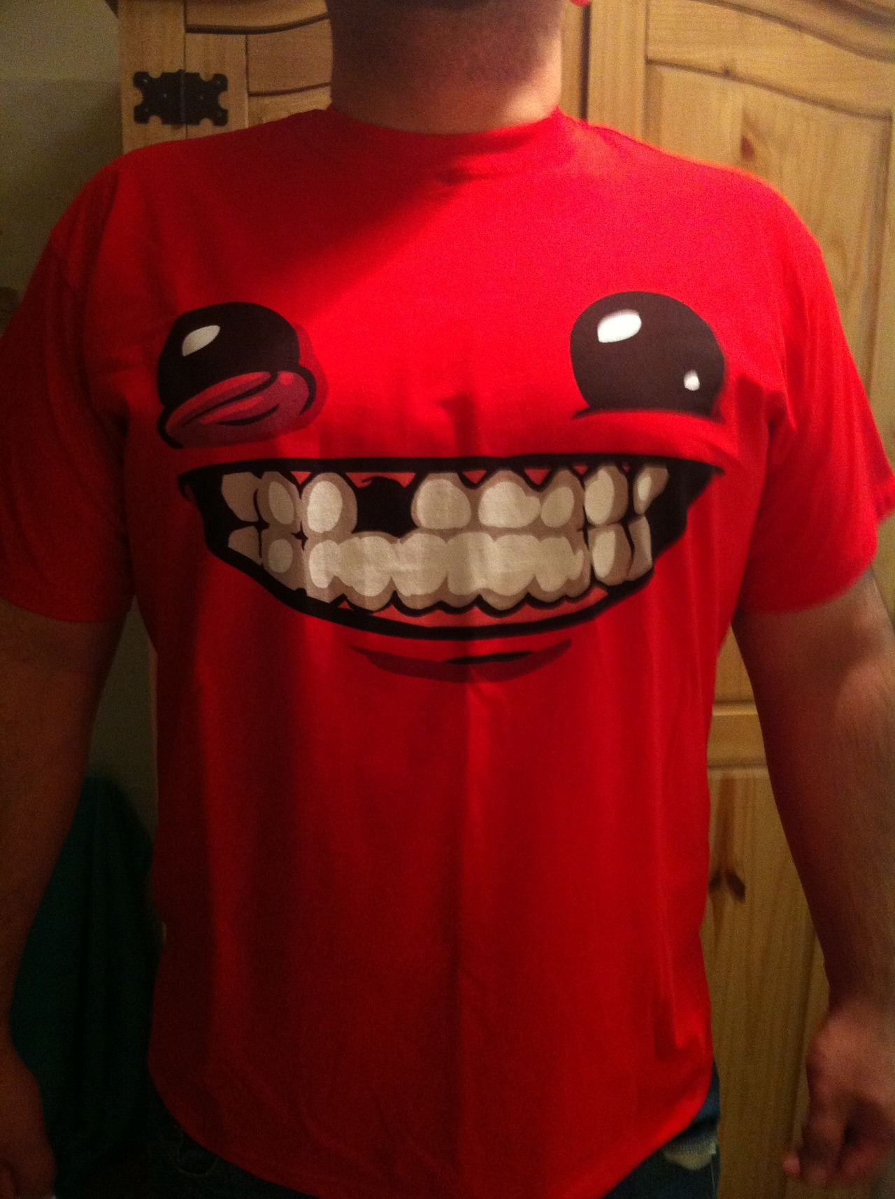Super Meat Boy T-Shirt FTW!!