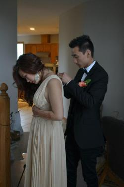 I miss this! Prom 2012. I have the most loving and caring boyfriend in the world, he's fixing my dress. I'm going to miss him so much when I go off to college.