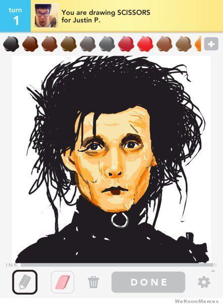 sstarbucks:  These Draw Something creations are unbelievable! #2 is a stunning drawing of Rihanna. You must see them ➡