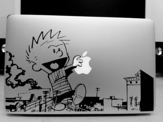 vinyledgedesigns:  (via Calvin & Hobbes Macbook Vinyl Decal Giant by vinyledgedesigns)