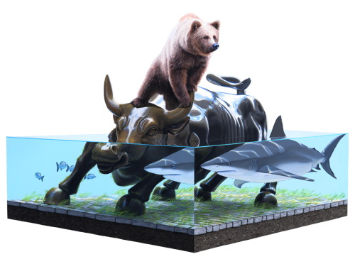 I may have just found a new favorite artist: Josh Keyes. Amazingness.