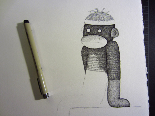 Seems like this sock monkey is pretty dissatisfied.