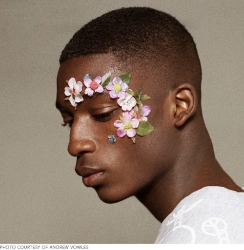 We're inspired by Christopher Shannon's floral menswear makeup!