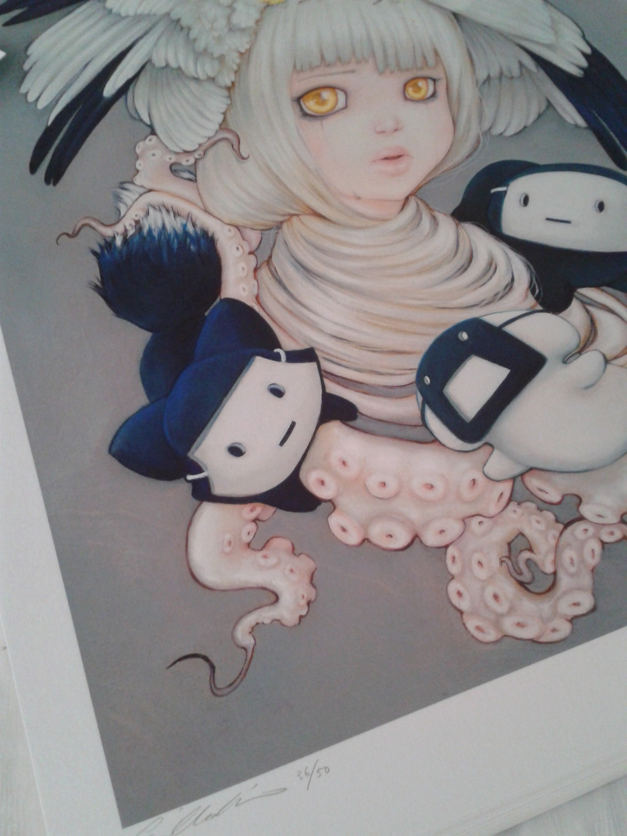 A peek at Camilla d'Errico's new Tanpopo Fine Art Print, exclusive to Munky King Gallery and SDCC