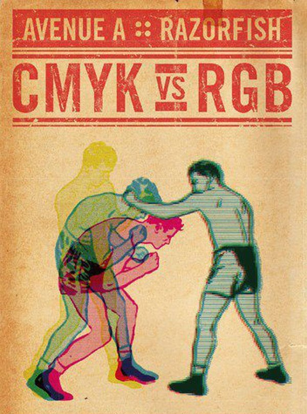 printeresting:  cmyk vs rgb-CMYK is getting ready for the uppercut!