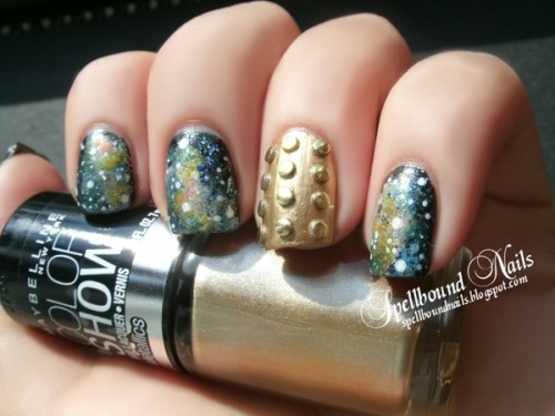 gingerbug05:  beautylish:  Awesome galaxy nails by Ashley P.!  Dalek nail…