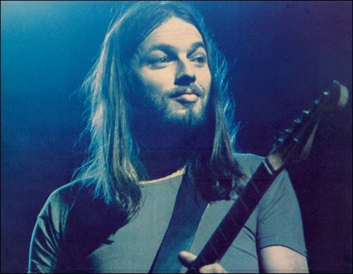 ghost-man-blues:  David Gilmour, Pink Floyd  He looks quite pleased with himself. Perhaps he'd just realised that G minor/D minor/C minor was a rather delicious chord progression that he might use in something…