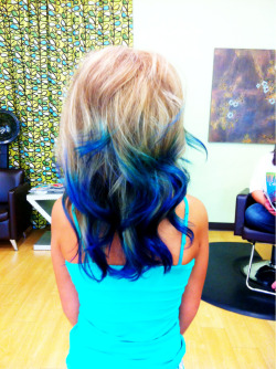 My peacock tips my client wanted today!!!!!!!!!!! Love them!