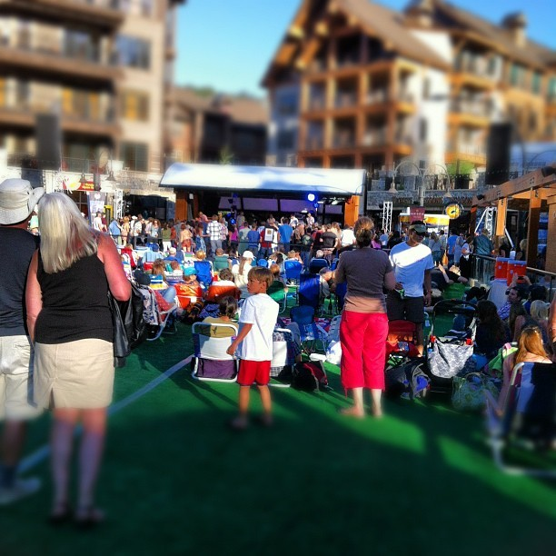 Gorgeous evening for a concert @skinorthstar  (Taken with Instagram at The Village  at Northstar California™ Resort)