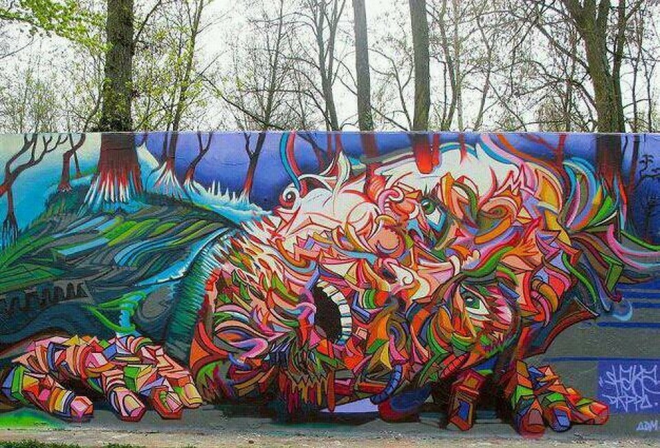 lickystickypickywe:  Awesome mural by Shaka.