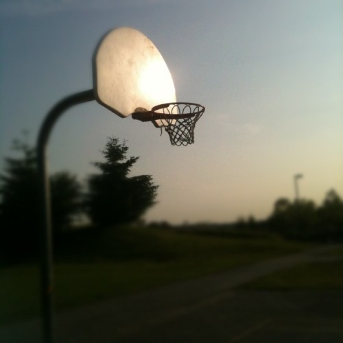 Work hard. Play hard. Sunset ballin' (Taken with Instagram)