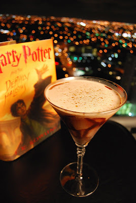 niftynif:  theaveragedream:  Harry Potter Mixology: My Favorites! Bellatrix Lestrange Ingredients: 1 oz Vodka 1 oz Bailey's Irish cream 1 oz Amaretto 1oz cream Chocolate syrup Top with cinnamon/crushed almonds Directions: Place martini glass in freezer to chill Add Baileys, amaretto, vodka and cream to shaker with ice Shake Remove glass from freezer Rim inside of martini glass with chocolate syrup Pour contents of shaker into glass Top with almond crumbles or cinnamon Fleur Delacour Ingredients: 3 oz Nuvo 1 oz Vodka 3 Raspberries 1 Strawberry Directions: To chill Vodka: Add ice and Vodka to cocktail shaker Shake Add Raspberries to bottom of champagne flute Strain chilled vodka into flute Add Nuvo Garnish with strawberry Fred and George Weasley Ingredients: 1 oz Vodka ½ oz Chambord ½ oz Peach Schnapps Splash of Pineapple juice Strawberry Pop Rocks Directions: Fill martini glass with cold water and place in freezer for 2 minutes to chill. Pour all ingredients except candy in a shaker with ice. Rim martini glass with Strawberry Pop Rocks Pour in contents of mixer.  Goblet of Fire  Ingredients:  1 oz vodka 1 oz blue curacao 3 oz lemonade Splash 151 Pinch of cinnamon  Directions:  Pour vodka, blue curacao, and lemonade into a goblet-type glass Top with a splash of 151 proof rum Light on fire Add the pinch of cinnamon to the flames (cinnamon will spark) *** Blow out flames before consuming! ***   Luna Lovegood Ingredients: 1 oz Grey Goose Le Citron vodka ½ oz Elderflower liquor 7 raspberries 1 tsp sugar Pink lemonade Lemon wedge garnish Directions: Muddle 6 raspberries with sugar in a tall glass. Add ice. Top with vodka and pink lemonade. Garnish with lemon wedge and raspberry. Lord Voldemort Ingredients: 1 oz Tequila 1/3 oz Tabasco sauce 1 jalapeno pepper Directions: Muddle jalapeno pepper and Tabasco sauce. Strain into shot glass. Add tequila. Garnish with thin slice of jalapeno. Firewhiskey Ingredients: 1 oz whiskey 1/2 oz cinnamon schnapps Splash of 151 rum Directions: Add whiskey and cinnamon schnapps to shaker with ice Shake to chill Pour into shot glass Top with 151 rum Ignite ***Put out flames before consuming!*** Minerva McGonagall Ingredients: 2 oz Vodka 6 oz Earl Grey or choice tea Dash Syrup 1 oz lemon juice Garnish lemon 2 mint leaves Directions: Combine all ingredients into a tall class. Stir. Garnish with mint leaves and lemon. Slytherin Ingredients: 4 mint leaves 1 oz rum 2 slices lime 3 tsp sugar 3 oz champagne Directions: Muddle mint leaves, limes, rum, sugar in shaker until sugar dissolves Strain into champagne flute Add champagne Garnish with mint  reblogging for future analysis