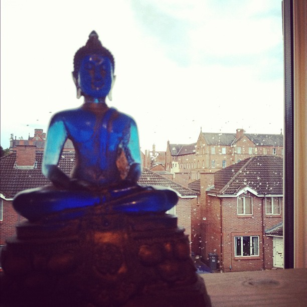 Blue Buddha. View from Belfast.  (Taken with Instagram)