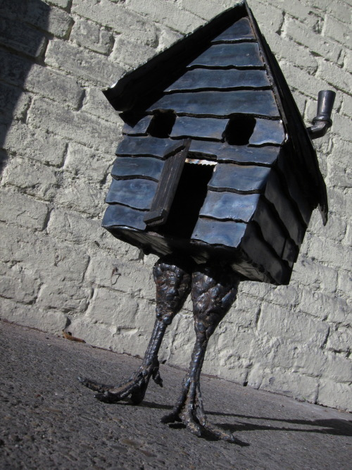 J Vala, Baba Yaga's House. Steel, 16 x 7 x 7 inches. ©2012
