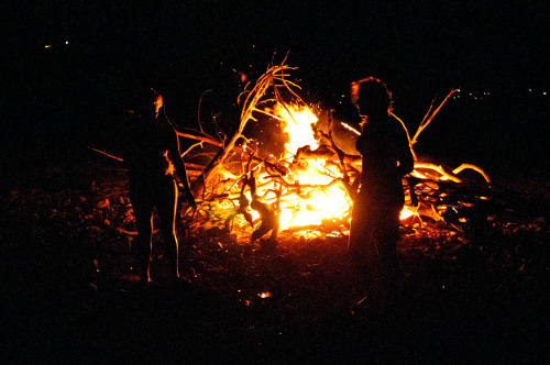 Bonfire, Medina Lake, Lakehills, Texas, 2012