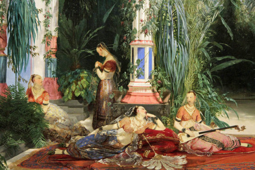 Carl Blechen, Interior of the Palm House (detail).