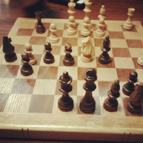 Playing chess with my cousin #life #chess #zombies #cute #babies #nosexforever  (Taken with Instagram)