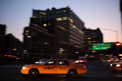 Night Cab, Canal St., New York 2012