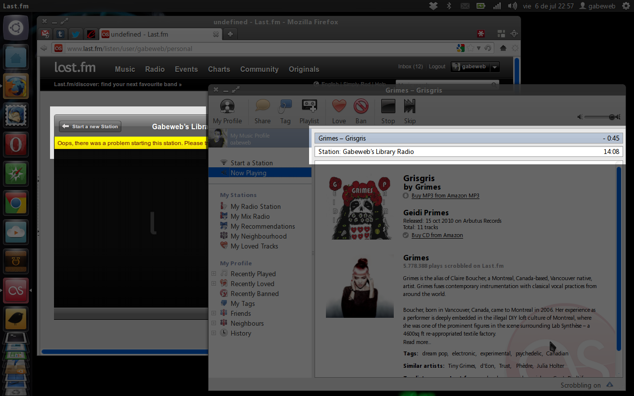 WHY??!? Why I can not play the Last.fm stations directly from the website, but in the desktop application?