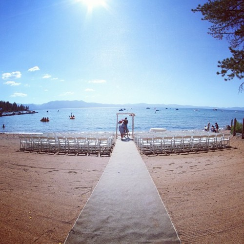 People prepping for a wedding. #tahoe  (Taken with Instagram)