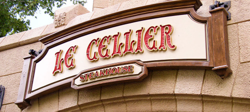 Day 14: Favorite place to eat at the park.   Le Cellier Steakhouse in Epcot. This was a hard challenge. First because I love to eat when I'm at Disney. That's one thing I look forward to so of course choosing one place is hard! I love so many. Second this challenge was hard because now I'm hungry and nothing in this house will kill what I'm craving, Disney food. This restaurant is located in the Canada Pavillion and is inspired by the wine cellars of Canadian Chateau styled hotels. They have the BEST steaks. The best. They also have the BEST cream cheese mashed potatoes. Yes CREAM CHEESE. The deserts are good too. I think last time I had a fancy s'more. Don't believe that this restaurant is that good? Well don't even bother trying to get a reservation there less than 6 months in advance! Love it.    Runners up: San Angel Inn, Nine Dragons, Liberty Tree Tavern, La Cantina  de San Angel (right on the water), Coral Reef (before the menu change its got the big Aquarium) and of course in Disneyland The Blue Bayou.