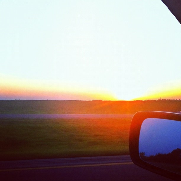 Driving home from Iowa. #iphoneography #picoftheday #instagood #sunset #sky # #sun (Taken with Instagram)