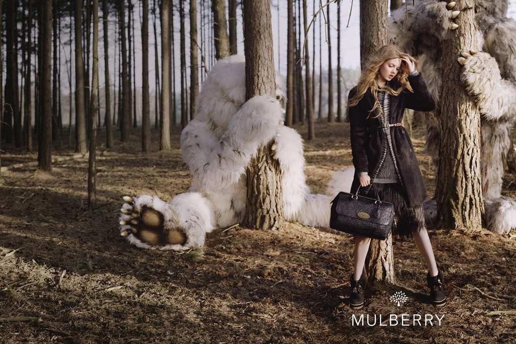 suicideblonde:  Lindsey Wixson by Tim Walker for Mulberry S/S 2012 ad campaign