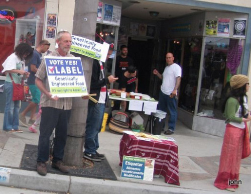 Bob and 14 more of our LabelGMO campaign volunteers in Ventura, CA, greeted parade goers & watchers on the Fourth to spread the word to Vote YES in November to label GE food. Many Californians are suffering ignorance and apathy about the hidden dangers in their food. We need to look each voter in the eye and ask if they know what they are eating. We need $ for TV ads to compete against Monsanto's $$$$$$$ for lies and confusion. Anyone anywhere can ENDORSE the CA Right to Know ballot initiative and DONATE even a little $ at carighttoknow.org.
