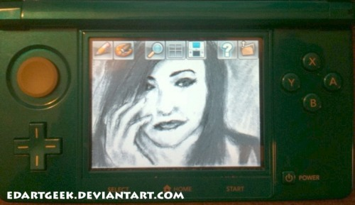 This is a LIGHTS sketch that I did last year on my 3DS using Art Academy.