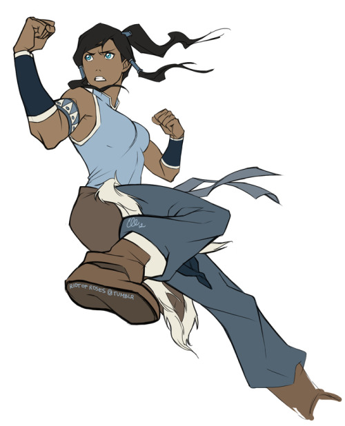 riotofroses:  You shoot me down but I won't fall. Korra is so much fun to draw~ Ahem, I should be asleep but late-night drawings are the best. Maybe I'll finish it sometime.I still want to work for Nickelodeon 81Drawn while listeing to David Guetta's Titanium.