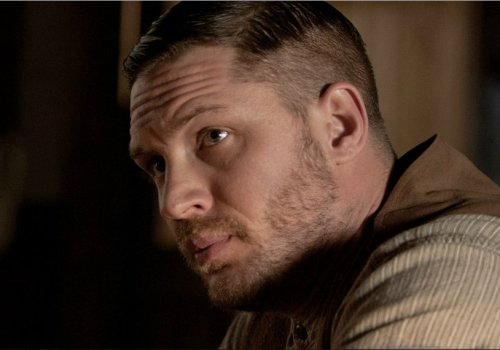 Tom Hardy in a still from Lawless - found on the newly launched official website - where you can shoot and fight to all your heart's desire.