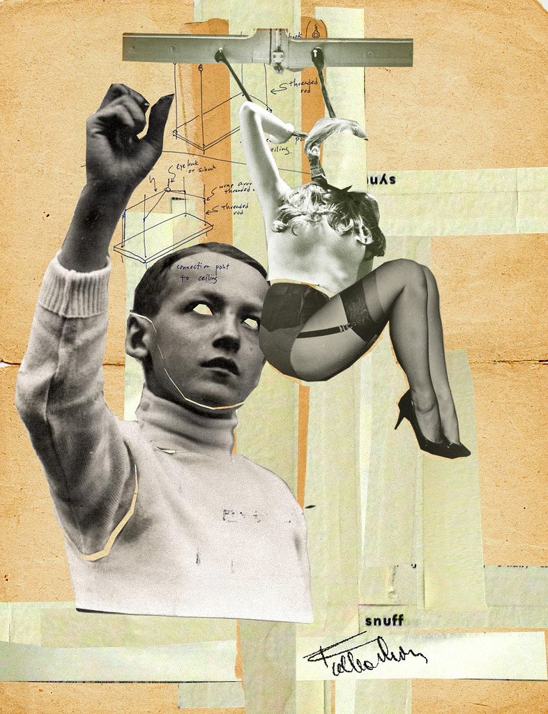 Franz Falckenhaus - Swinger, 2012           Collage, Mixed Media