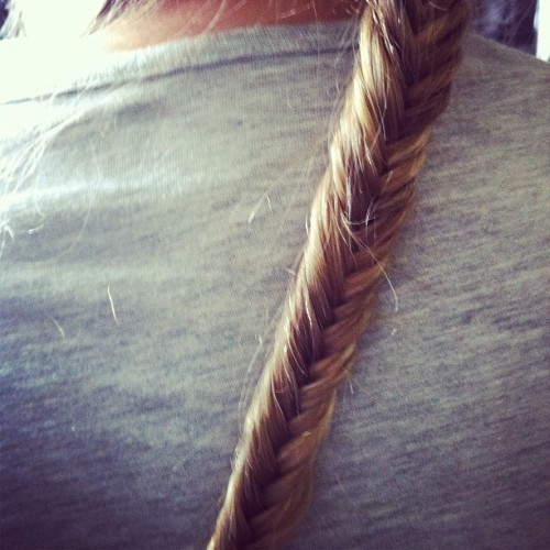 Have finally cracked the fishtail plait! GET IN (Taken with Instagram)