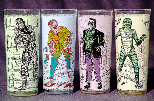 Set of Anchor-Hocking Monster glasses (1963)