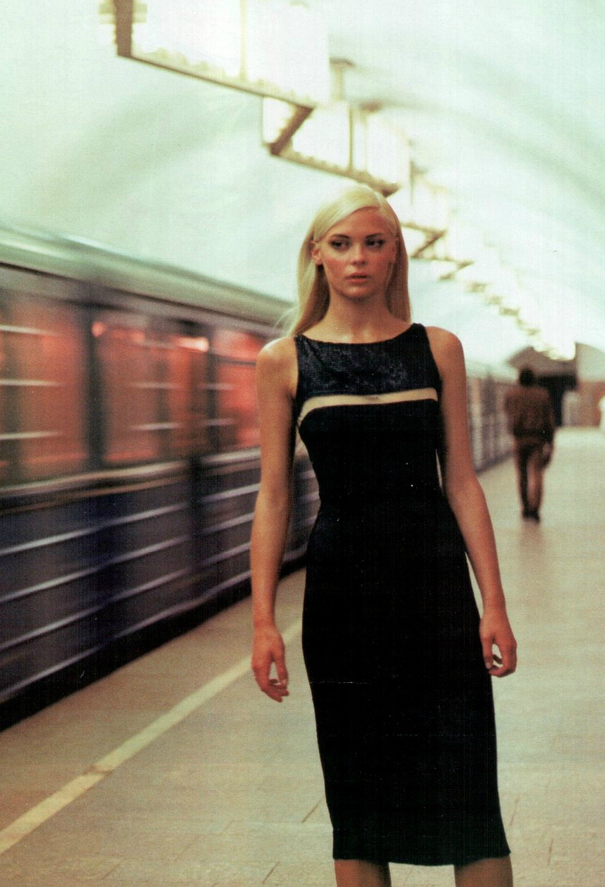 """The Speed of Light"": Jaime King by Neil Kirk for Vogue Russia October 1998"
