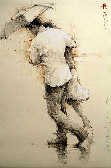 felixinclusis:  art-and-dream: Art painting by Andre Kohn romantic impressionist figurative