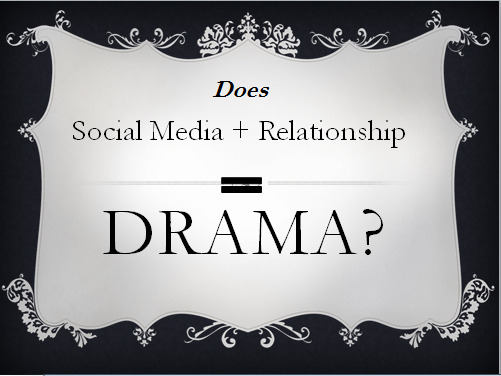 Does social media plus relationships equal drama?  I'd like to hear your story.  Chime in…  http://raymondgonzalez.com