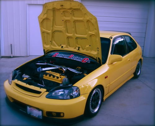 Respect the SOHC  I appreciate and enjoy a lot of things your average Honda guy doesn't, this car definately falls in that category. It's been completely gone through, paint and body, cleaned bay, suspension and wheels, I think I see a Mugen strut bar. Someone has put a lot of time, money and love into it but it retains it's D16Y7 motor, no turbo, not even a Y8 intake manifold swap. And I respect that attitude of making the most of the car as it came from the factory, flying in the face of the vast majority of Honda enthusiasts who think if it's not swapped, it's worthless.